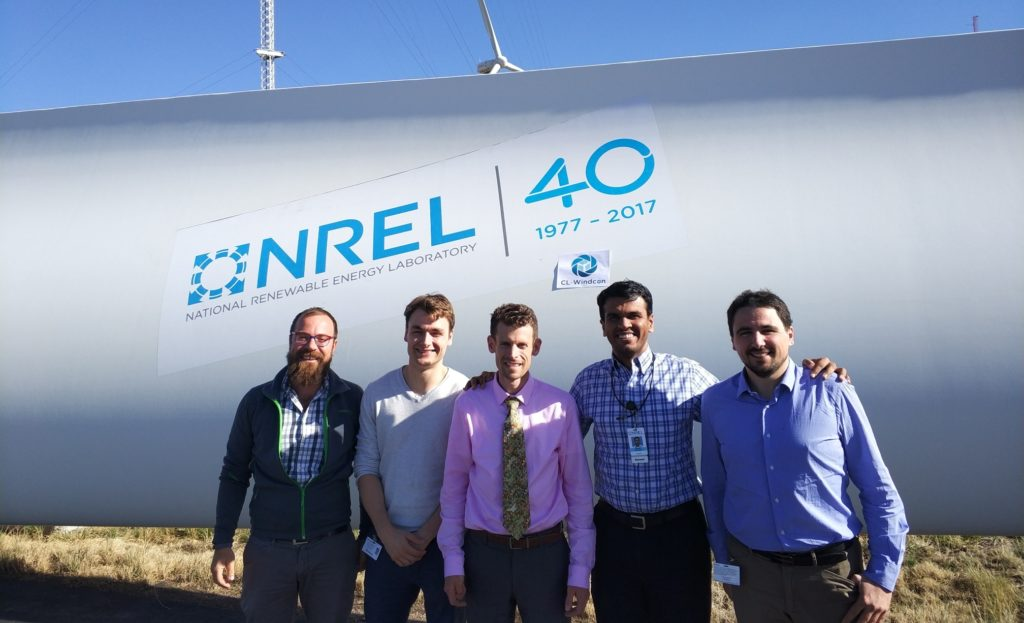 CL-Windcon project team visited NREL in USA to meet their SOWFA specialists